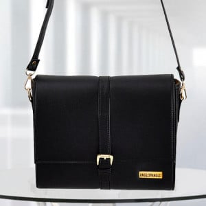 AP Scarlett Black Color Bag - Branded Handbags Online