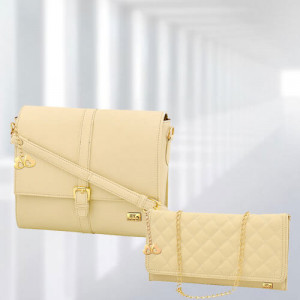 AP Scarlett Cream Bag - Branded Handbags Online