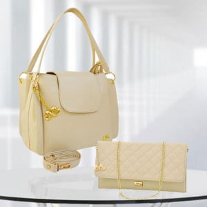 AP Victoria Cream Bag - Branded Handbags Online