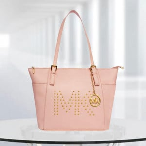 MK Zinnia Studded Pink Color Bag - Branded Handbags Online