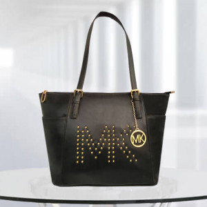 MK Zinnia Studded Black Color Bag - Branded Handbags Online