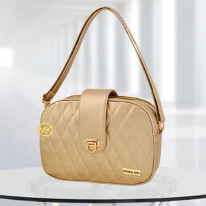 MK Whitney Golden Color Bag - Branded Handbags Online