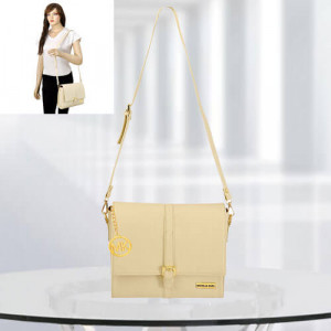 MK Scarlett Cream Color Bag - Branded Handbags Online