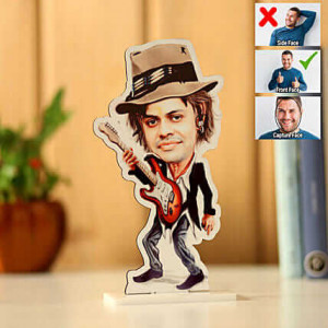 Customised Rockstar Caricature - Personalised Photo Gifts Online