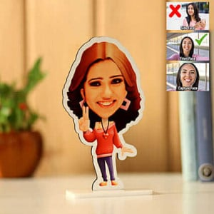 Customised Beautiful Girl Caricature - Personalised Photo Gifts Online