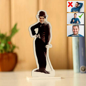Customised Charlie Chaplin Caricature - Personalised Photo Gifts Online