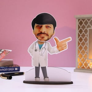 Customised Male Doctor Caricature - Personalised Photo Gifts Online