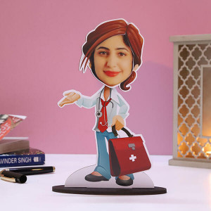 Customised Lady Doctor Caricature - Personalised Photo Gifts Online