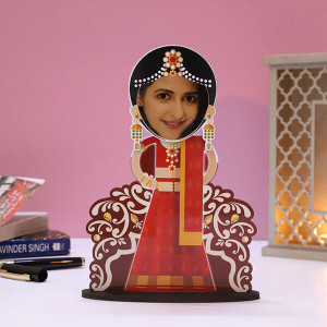 Customised Dulhan Caricature - Personalised Photo Gifts Online