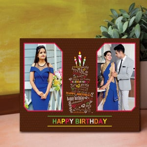 Birthday Personalised Canvas - Personalised Photo Gifts Online