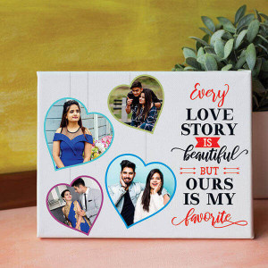 Favourite Love Story Canvas - Personalised Photo Gifts Online