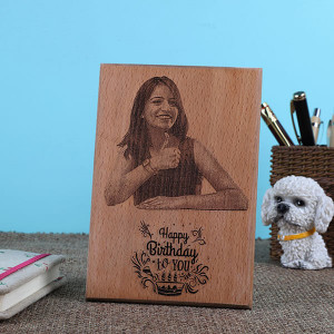 Personalised Birthday Wooden Plaque - Online Home Decor Items
