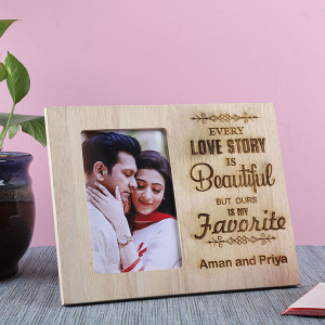 Customised Beautiful Love Story Frame - Personalised Photo Gifts Online