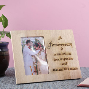 Customised Anniversary Frame - Personalised Engraved