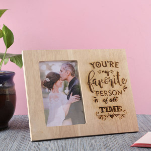 Favourite Wooden Frame - Personalised Photo Frames Gifts