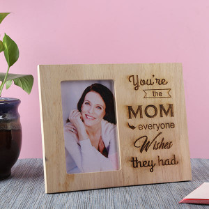 Mom Wooden Frame - Personalised Photo Gifts Online