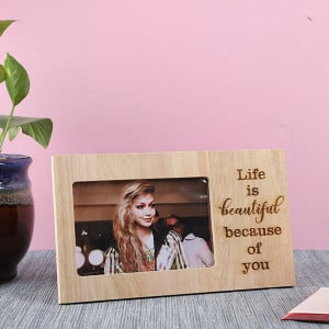 Customised Life Is Beautiful Wooden Frame - Personalised Photo Frames Gifts