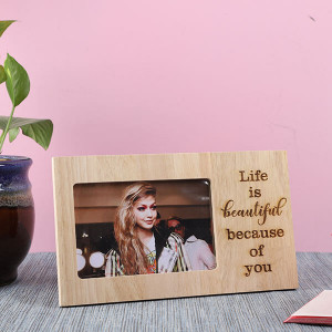 Customised Life Is Beautiful Wooden Frame - Personalised Photo Gifts Online