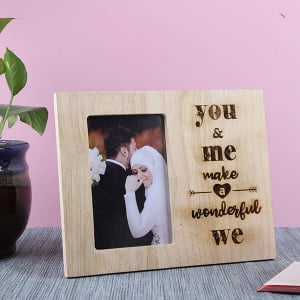 Customised You & Me Wooden Frame - Personalised Photo Gifts Online