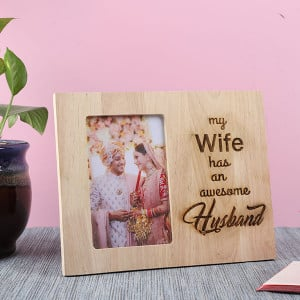 Customised Awesome Husband Photo Frame - Personalised Photo Gifts Online