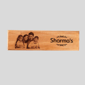 Customised Engraved Wooden Nameplate - Personalised Photo Gifts Online