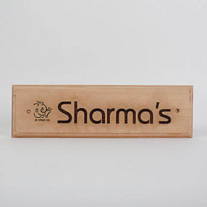 Customised Engraved Wooden Nameplate With Ganesha - Personalised Engraved