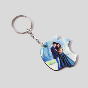 Personalised Apple Shaped Key Chain - Personalised Photo Gifts Online