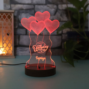 Personalised Birthday Led Lamp - Personalised Photo Gifts Online