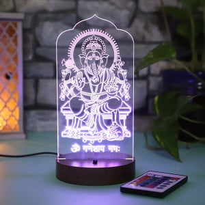 Personalised Ganpati Led Lamp - Personalised Photo Gifts Online