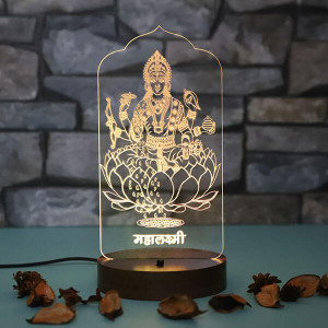 Personalised Maa Saraswati Led Lamp - Personalised Photo Lamps