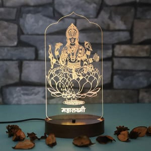 Personalised Maa Saraswati Led Lamp - Personalised Photo Gifts Online