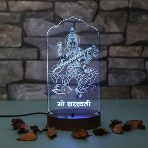 Personalised Maa Laxmi Led Lamp - Personalised Photo Lamps