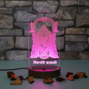 Personalised Tirupati Led Lamp - Personalised Photo Lamps