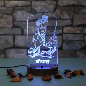 Personalised Gopal Led Lamp - Personalised Photo Gifts Online