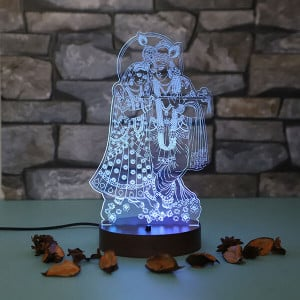 Personalised Radhakrishna Led Lamp - Personalised Photo Gifts Online