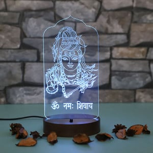 Lord Shiva Led Lamp - Personalised Photo Gifts Online