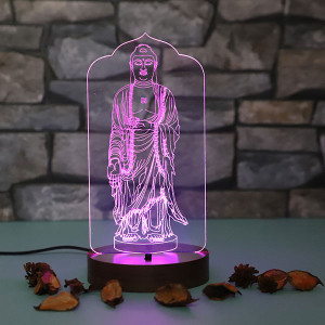 Lord Buddha Led Lamp - Personalised Photo Lamps