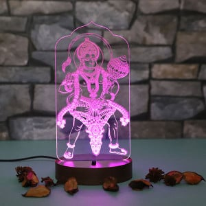 Bajrangbali Led Lamp - Personalised Photo Gifts Online