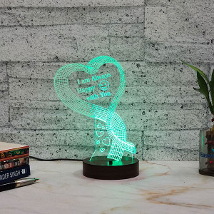 Happy With You Led Lamp - Personalised Photo Gifts Online