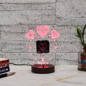 Birthday Led Lamp with Clock - Personalised Photo Gifts Online