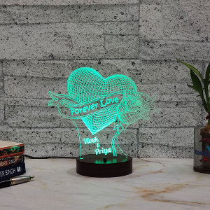 Forever Love Led Lamp - Personalised Photo Gifts Online