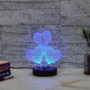 I Love You from Heart Led Lamp - Personalised Photo Gifts Online