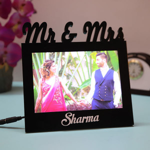 Customised Mr & Mrs Led Couple Lamp - Personalised Photo Lamps
