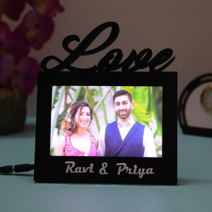 Customised Love Led Lamp - Personalised Photo Gifts Online