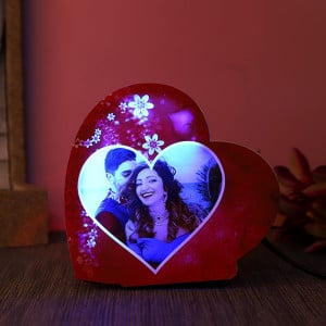 Personalised Heartshaped Led Lamp For Couples - Personalised Photo Gifts Online