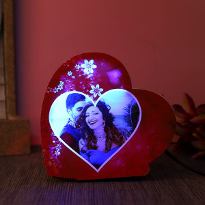 Personalised Heartshaped Led Lamp For Couples - Personalised Photo Lamps