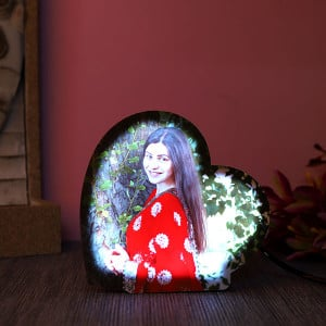 Personalised Heartshaped Led Lamp - Personalised Photo Lamps