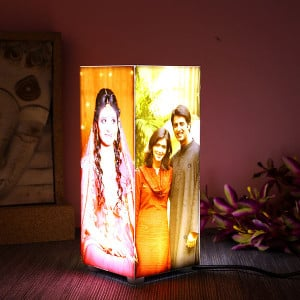 Personalised Corner Table Lamp - Personalised Photo Lamps