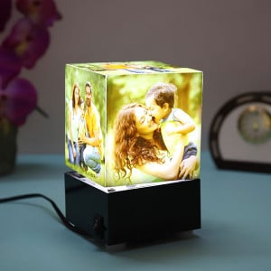 Personalised Rotating Lamp - Personalised Photo Lamps