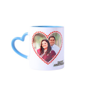 Personalised Heart Shape Handle Ceramic Mug - Personalised Photo Gifts Online